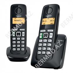 Simsiz telefon Gigaset A220A Duo RUS Black