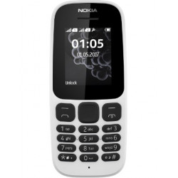 Mobil telefon Nokia 105 DS New White