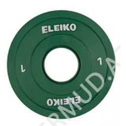 Ağır atletika Eleiko IWF / məşq diski - 1kq 124-0010