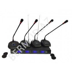 Simsiz konfrans mikrofon  EM-400R 4X100 Channel UHF