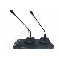 Simsiz konfrans mikrofon  Meyas K8002V 2x100