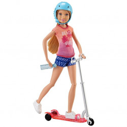 Gəlincik Barbie Ride-on Scooter and Doll